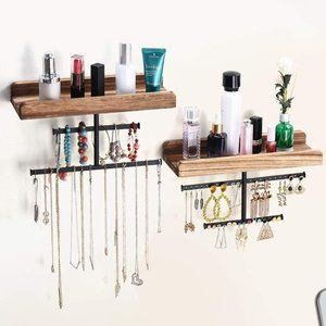 New 2 SET HANGING JEWELRY ORGANIZER FOR WALL